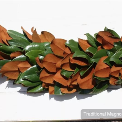 Traditional Magnolia Garland $9.95 per foot